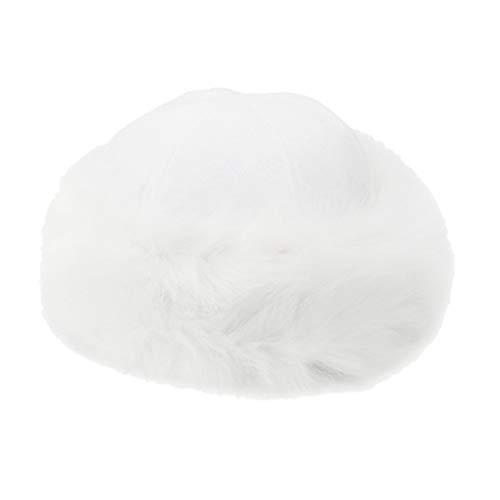 Yue668 - Gorro de Lana para Mujer y Gorro cálido de Terciopelo, Sombrero Mongol de Invierno para Mujer, sólido Grueso y cálido, acrílico, Blanco, Talla única