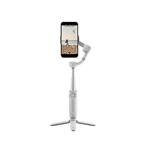 DJI OM 5 Athen Gray - Estabilizador para Smartphones en Tres Ejes, Brazo Extensible Integrado, Portátil y Plegable, Estabilizador Android y Iphone con Shotguides, Gris