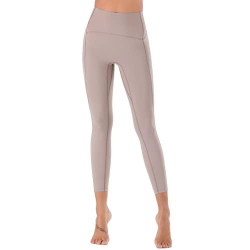 QTJY Pantalones de Yoga Suaves y sexys para Mujer, Leggings absorbentes de Sudor, Cintura Alta, Flexiones de Cadera, Pantalones de Entrenamiento para Celulitis, A M