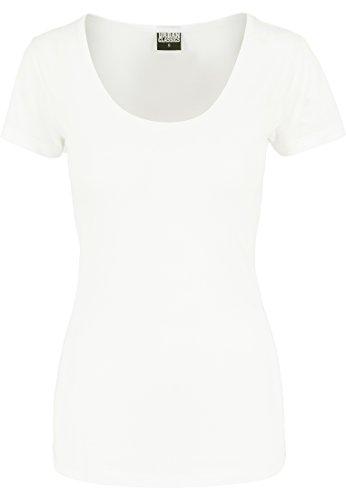 Urban Classics T-Shirt Basic Viscon tee Camiseta, Blanco (Offwhite), Small (Talla del Fabricante: Small) para Mujer