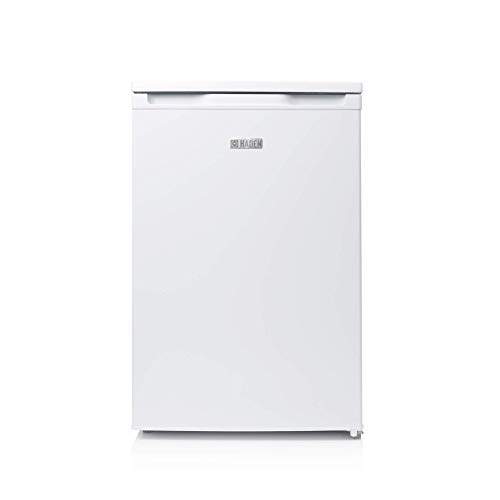 Haden HR147W Refrigerator – Freestanding Under Counter Fridge with Ice Box, 55cm, 97 Litre, White - D11