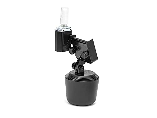 WeatherTech CupFone Two View with Hand Sanitizer Holder for Car Phone Automobile Cradle Compatible with iPhone and Cell Phone