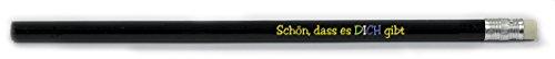 887 368 Set Bleistifte schwarz Schön, dass es dich gibt 10 Stück