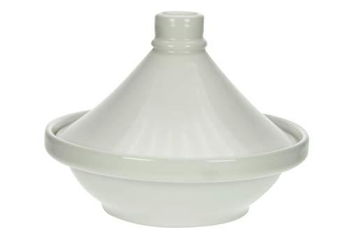 Cosy & Trendy Tajine aus Steinzeug, Weiß, D 22 CM