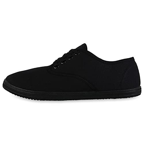Giralin Zapatillas deportivas para mujer, cómodas, de tela, para el tiempo libre, básicas, con cordones, color Negro, talla 37 EU