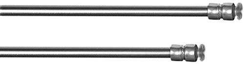 Klemmstange Flex ausdrehbar/ausziehbar TELESKOP mit Saugknopf zum Klemmen - ohne zu Schrauben und Bohren für Fenster und Türen (Edelstahl-Optik, 30-50 cm)