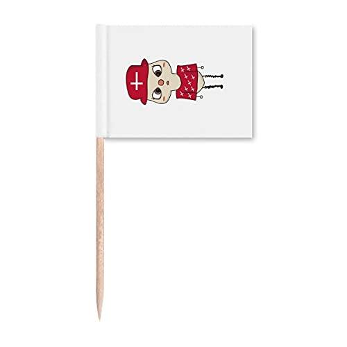 Beauty Gift Dänemark Land Europa Kopenhagen Flagge UU Zahnstocher Flaggen Marker Topper Party Dekoration