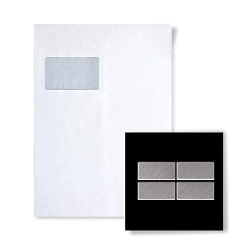 MUESTRA Mosaico S-Bauhaus-S-S-B Colección Bauhaus Acero inoxidable cepillado