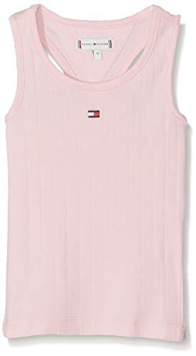Tommy Hilfiger Baby-Mädchen SOLID Wide Rib Vest Top, Rosa (Almond Blossom 634), (Herstellergröße: 86)