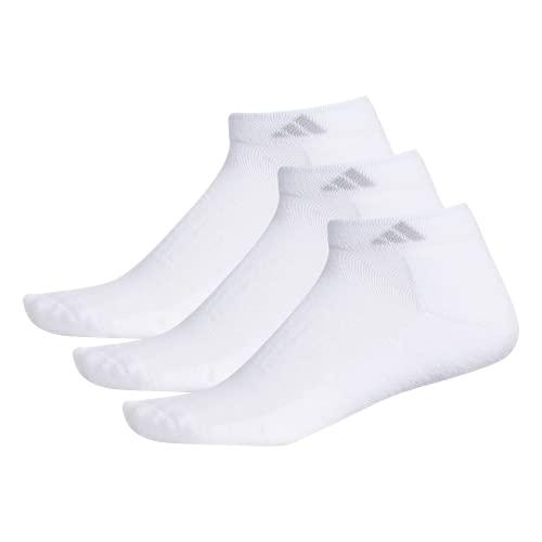 adidas Women's Cushioned Low Cut Socks (3-Pair), White/Clear Onix, Medium, (Shoe Size 5-10)