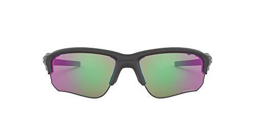 Oakley Men's Flak Draft (a) Non-Polarized Iridium Rectangular Sunglasses, Steel, 70 mm