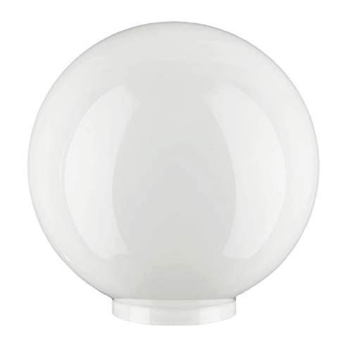 "Glazen Bol vervangende lampenkap voor plafond/wand/vloerlamp, 17.5cm dia. (7""), Wit"
