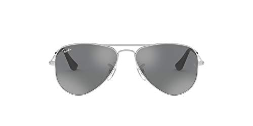 Ray-Ban Junior Unisex-Kinder 0rj9506s 212/6g 52 Brillengestelle, Silber (Shiny Silver/Grey Silver Mirror)