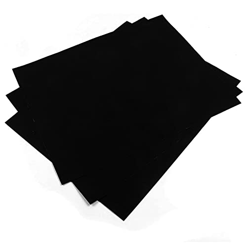 Multiwill 3 x Heavy Duty Teflon Non-Stick Oven Liner Heat Resistant Reusable Barbecue Baking Mat for Charcoal Gas Electric Grill 40 x 50cm Black