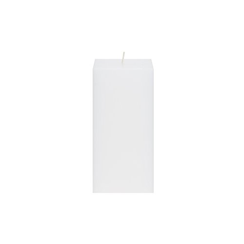 Mega Candles Unscented White Square Pillar Candle | Hand Poured Premium Wax Candles 3' x 6' | For Home Décor, Wedding Receptions, Baby Showers, Birthdays, Celebrations, Party Favors & More
