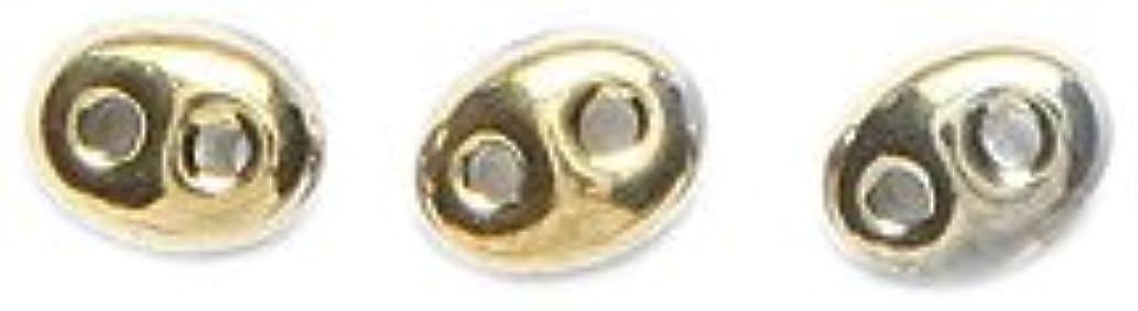 Preciosa Ornela Czech Twin 2-Hole Seed Bead, Transparent Finish, 25gm, Amber