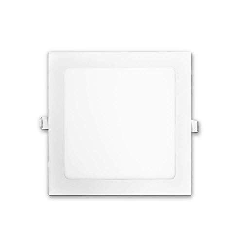 DEMASLED 18W 9in (OD 8.77in   ID 8in) Led Light Ultra-Thin Square Panel Ceiling recessed. Cool White 6000K 1440lm with Driver. Non-dimmable. (Equivalent to 180W Incandescent Light)
