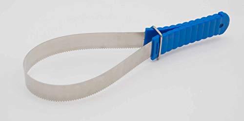 Reitsport Amesbichler Pferde Schweißmesser Schweißabzieher Fellkratzer zweihändig Entfilzer aus Metall