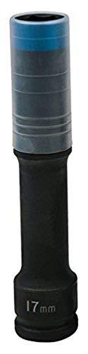 KS Tools 515.0617 - Douille à chocs 6 pans extra-longue pour jantes aluminium - Gamme SlimPOWER, 17 mm - Spécial montage/démontage de roue - En Chrome-Molybdène - Bleu