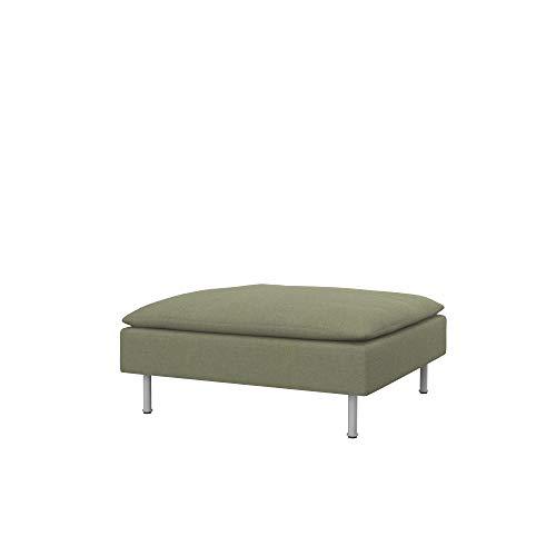 Soferia Funda de Repuesto para IKEA SÖDERHAMN reposapiés, Tela Elegance Taupe, Roja