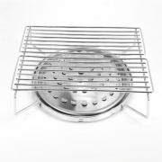 Barbacoa portátil, estufa de casete de cocina de escritorio de gas para el hogar con 10 letreros de barbacoa de acero inoxidable