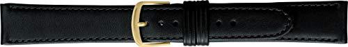 BAMBI バンビ 時計バンド 牛革 撥水 ブラック 20mm 美錠 ゴールド Lサイズ BCA003AS