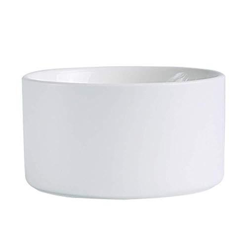 Home Big Wrist Bowl Plate, Huishoudelijke Keramische Dinnerware, Nordic Matte Stereofonisch Effen Kleur Bakplaat Bakken Taart Schaal Bakken, Wit Decoratieve Hotel Retro Soep Bowl Square Plate