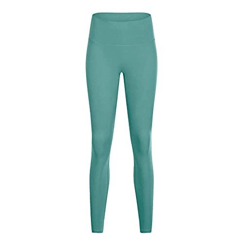 MQQM Push up Yoga Leggings de Cintura,Sin línea, Pantalones de Yoga Desnuda, Pantalones de Cintura Alta de Cintura.-Verde 4_XXL,Opacas Cintura Alta Yoga Medias