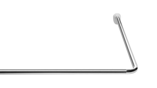 RIDDER 59500-350 Winkelstange, Universalwinkelstange, Duschvorhangstange, Ø 25mm, Aluminium, chrom