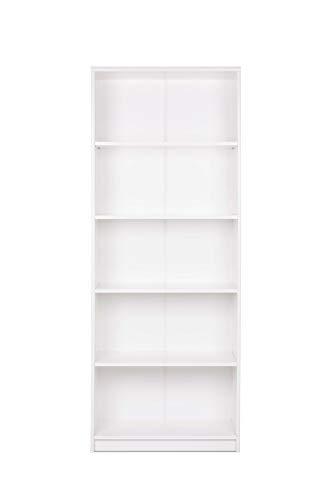 AVANTI TRENDSTORE - Keran - Armadio a Giorno in Legno Laminato, Disponibile in 2 Diversi Colori e 3 Diverse Altezze (Bianco, 188 cm)