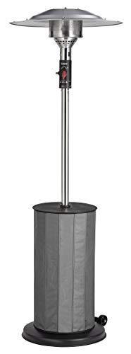 Enders® Terrassenheizer FANCY 8 kW 5441 Terrassenstrahler, Gas-Heizstrahler, Heizpilz mit stufenloser Regulierung, Eco Plus Brenner, Transporträder, Umkippsicherung, Ablagetisch, schwarz