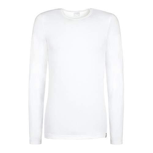 Schiesser Langarm Shirt 95/5 Rundhals Baumwollmischung weiß Größe L