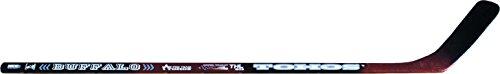 TOHOS Uni Buffalo–Palo de Hockey sobre Hielo, Color Negro/Rojo, 125cm