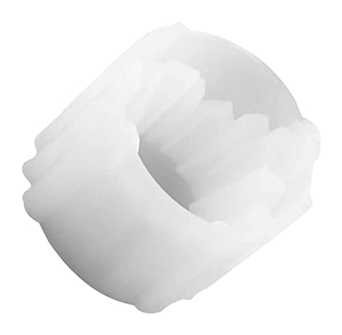 LIXBD 1 molde de cristal para portavelas de escritorio para manualidades, caja de almacenamiento de joyas, adornos de escritorio (color: blanco)
