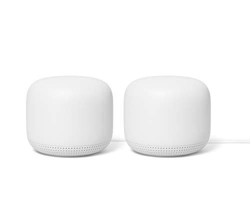 Google Nest WiFi Router, Nieve, 1 Paquete x 2 Unidades