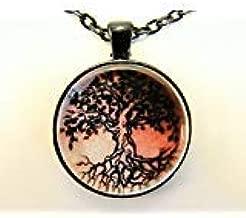 Collar de arte para la piel, árbol de la vida, tatuaje tradicional ...