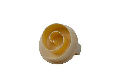 Brötchen- Semmeldrücker (75010) -Schnecke- aus lebensmittelechtem Kunststoff, Durchmesser: 8,0 cm, Farbe: ELFENBEIN