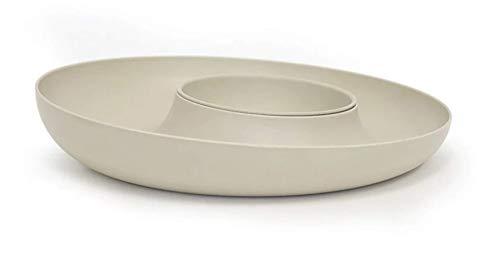 SAS EKOBO BIOBU Fresco Fruit Bowl, Chip Dip Set Stone 2tlg. 35 x 6 cm