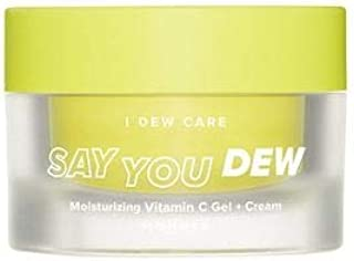 I DEW CARE Say You Dew Moisturizing Vitamin C Gel + Cream - Korean Skin Care Face Moisturizer, Vitamin C Serum Moisturizer For Face, Skin Care Products Face Cream with Vitamin C (1.69 oz)