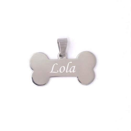 BOLBO Bolboreta Valente Placa Chapa identificativa con Nombre para Perro