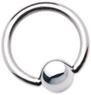 BodyJewelryOnline Surgical Steel Captive Bead Ring - 8 Gauge 22Mm