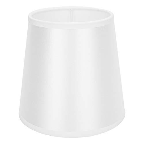 Fdit Accesorios de Cubierta de luz de Pantalla de Tela de Estilo Simple Blanco Brillante E14 para lámpara de Pared de araña