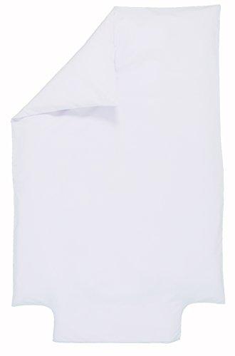 P'tit Basile - Housse de couette bébé Coton Bio - 100x140 cm - Coloris Blanc - été ou hiver - Coton certifié Oekotex et Gots de qualité supérieure, Tissage serré pour plus de douceur