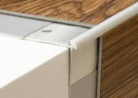 Prinz Treppenkantenprofil Nr.187 für Beläge von 3mm, verschiedene Farblegierungen (silber)