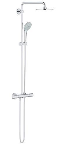 Grohe 27964000 Euphoria 210 - Sistema de ducha con termostato, cabezal de ducha redondo 210mm