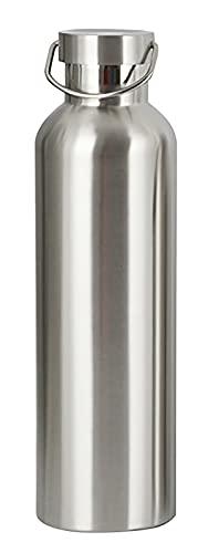 Termo de acero inoxidable de 1 l, botella grande con ácido carbónico, apta para exteriores, sin BPA, con junta tórica, apta para lavavajillas