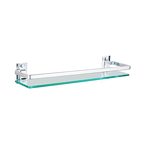 JIE KE Estante de exhibición para baño, estante de cristal templado extra...
