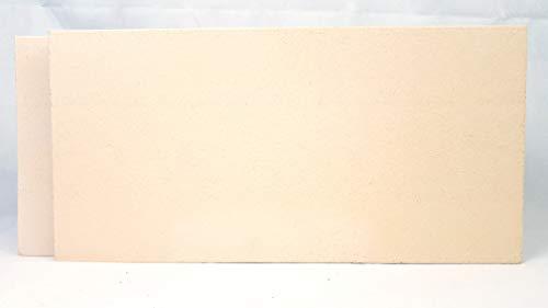 2 Stück Schamotte 40x20x4 cm Schamotteplatten Schamottstein