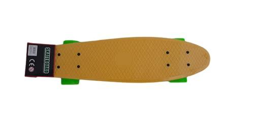 Skateboard, Monopatín Retro para Niños y Adultos Unisex, 57x15 cm, Skateboard Completo Color Amarillo