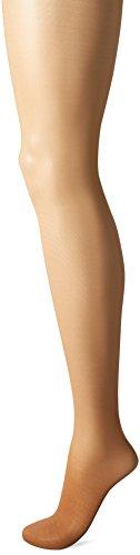 L'eggs Women's Energy 3 Pack Control Top Sheer Toe Panty Hose, Suntan size A